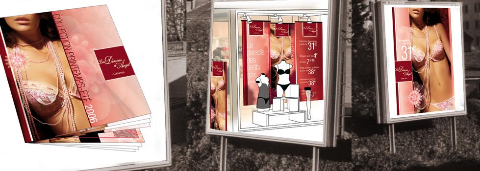 Dessous d'Angel : catalogue et habillage vitrine