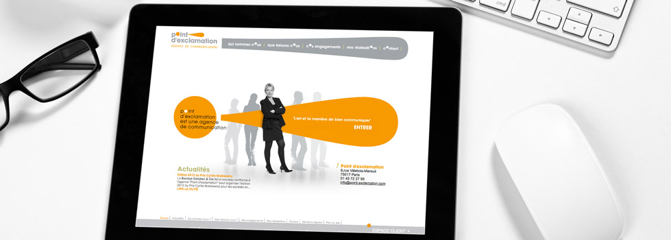 Site et Keynote iPad : Agence Point d'exclamation